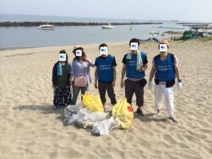 20180721_関屋浜掃除1