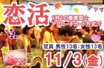 <strong>11/3(金)に、「恋活パーティー」を、開催します(^0^)</strong>