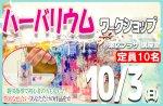 <b>新潟市で、10/3(日)に「ハーバリウムワークショップ」を開催します(^^)/</b>